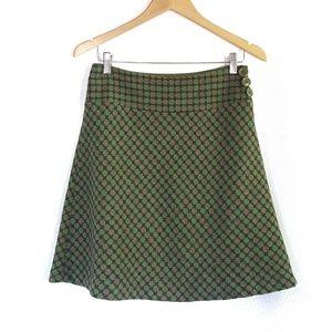 Wool Loft 6P Aline Mini Midi Green Skirt